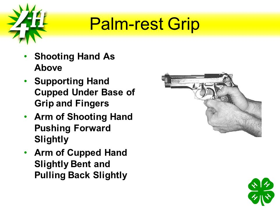 Palm-rest Grip Shooting Hand As Above