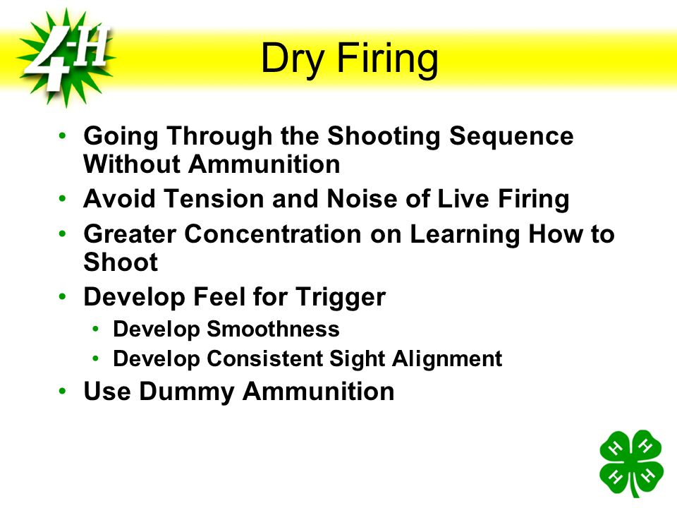 Dry Firing Going Through the Shooting Sequence Without Ammunition