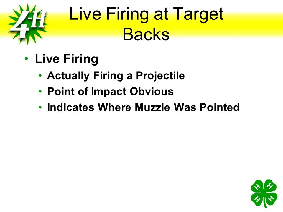 Live Firing at Target Backs