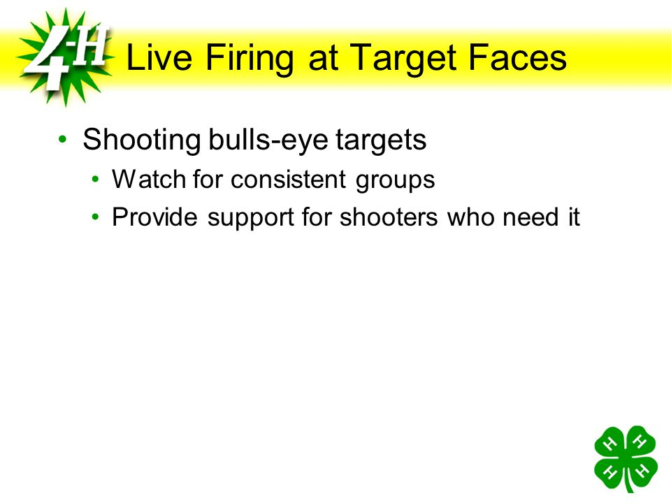 Live Firing at Target Faces