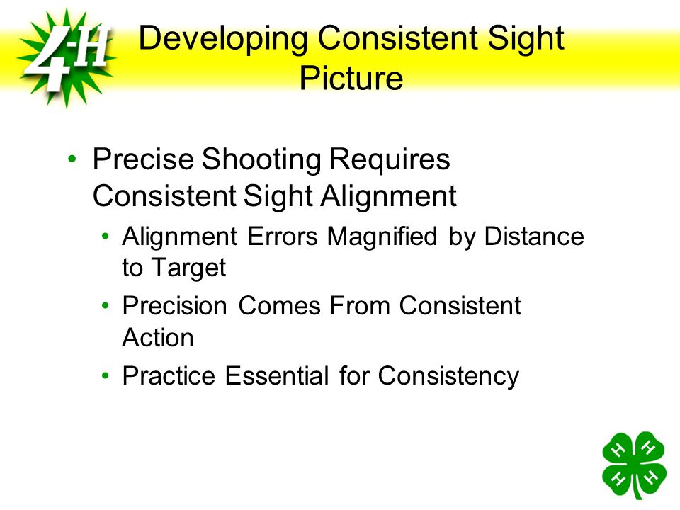Developing Consistent Sight Picture