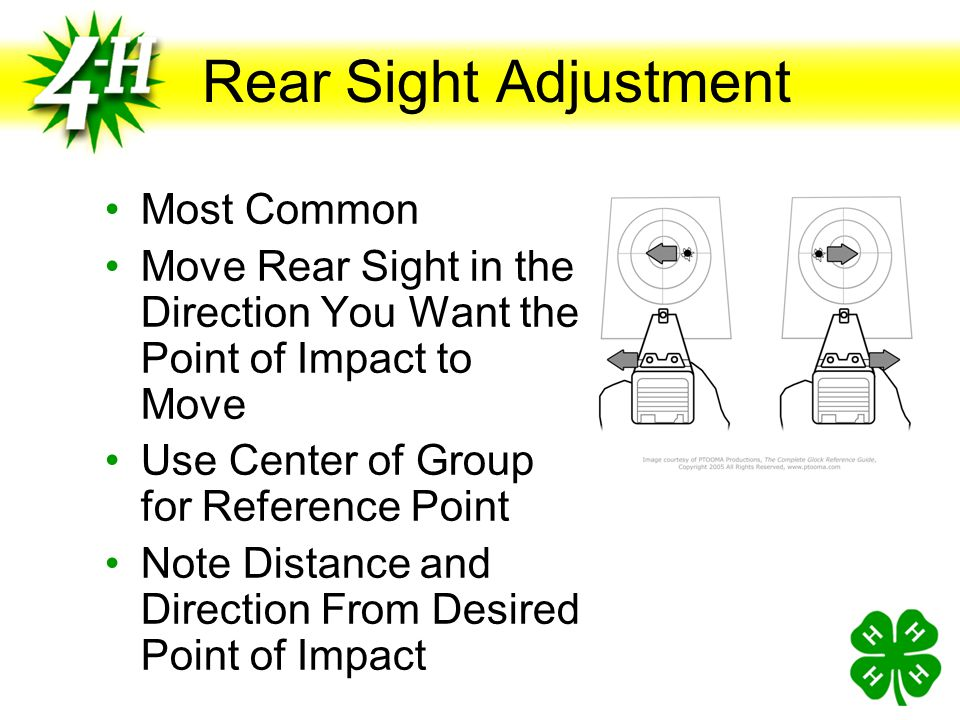 Rear Sight Adjustment Most Common