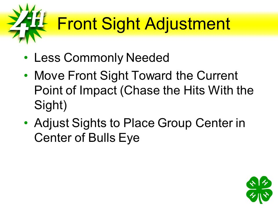 Front Sight Adjustment