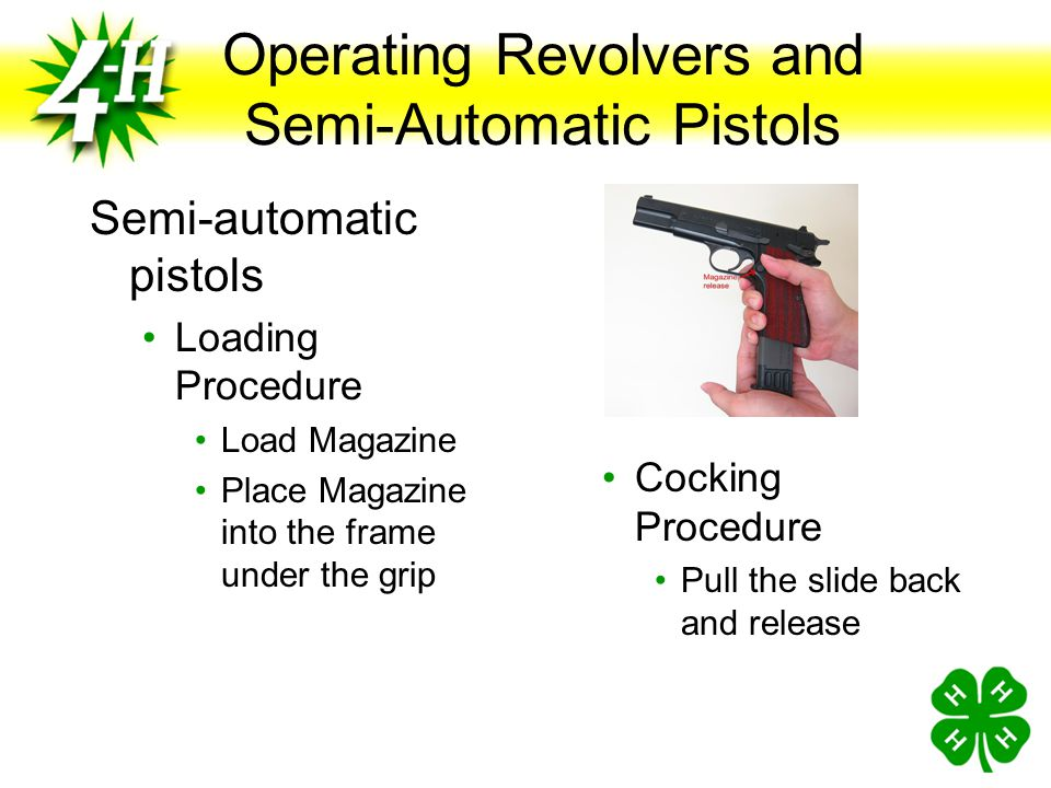 Operating Revolvers and Semi-Automatic Pistols