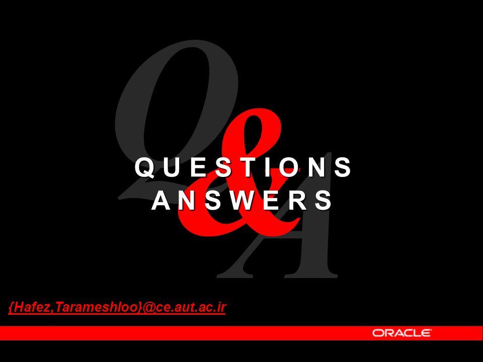 Q & Q U E S T I O N S A N S W E R S A {Hafez,Tarameshloo}@ce.aut.ac.ir
