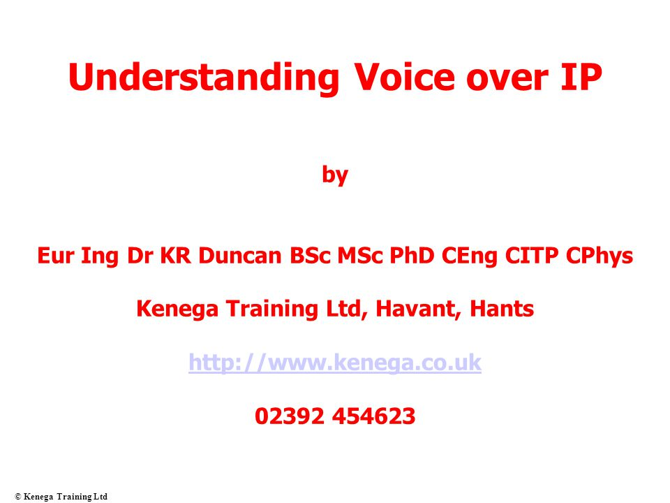Understanding Voice over IP