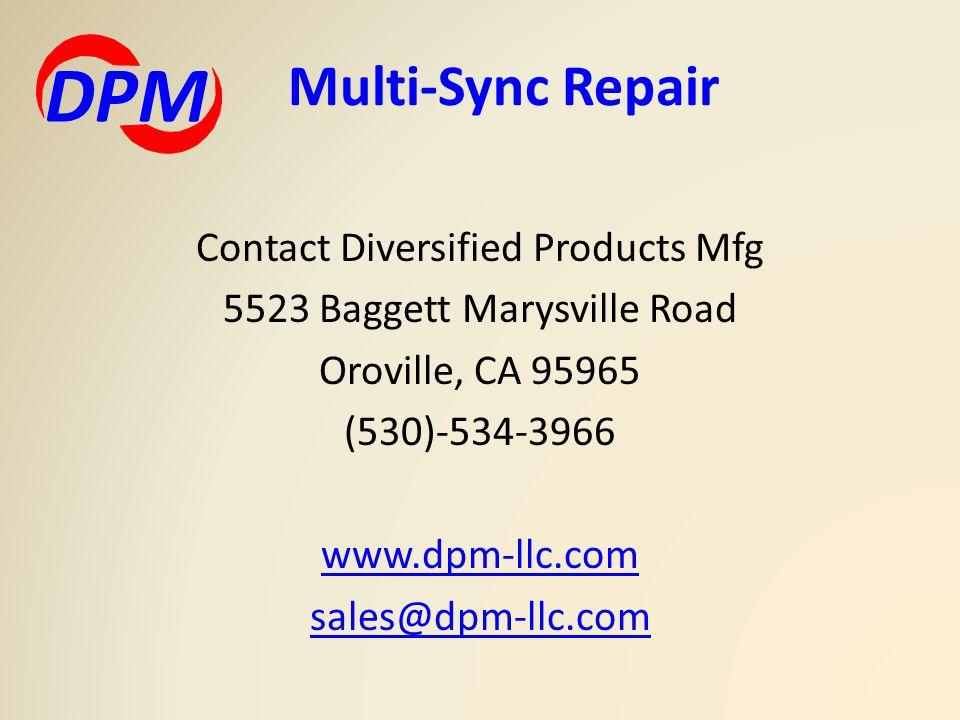 Multi-Sync Repair DPM.