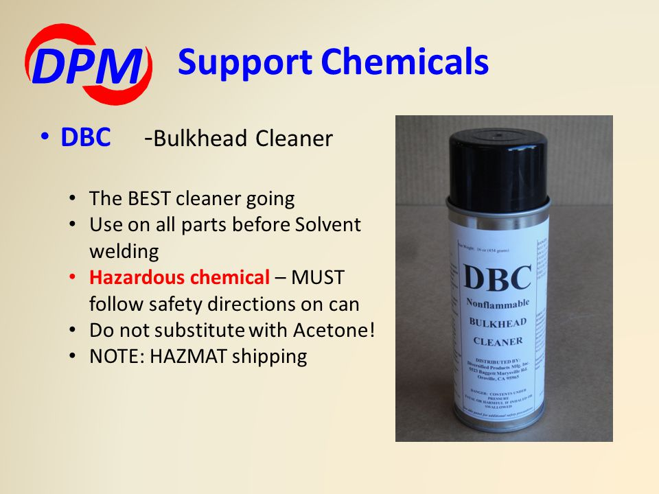 DPM Support Chemicals DBC -Bulkhead Cleaner The BEST cleaner going