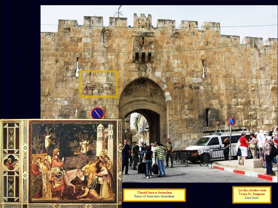 Ulazak Isusa u Jeruzalem Entry of Jesus into Jerusalem