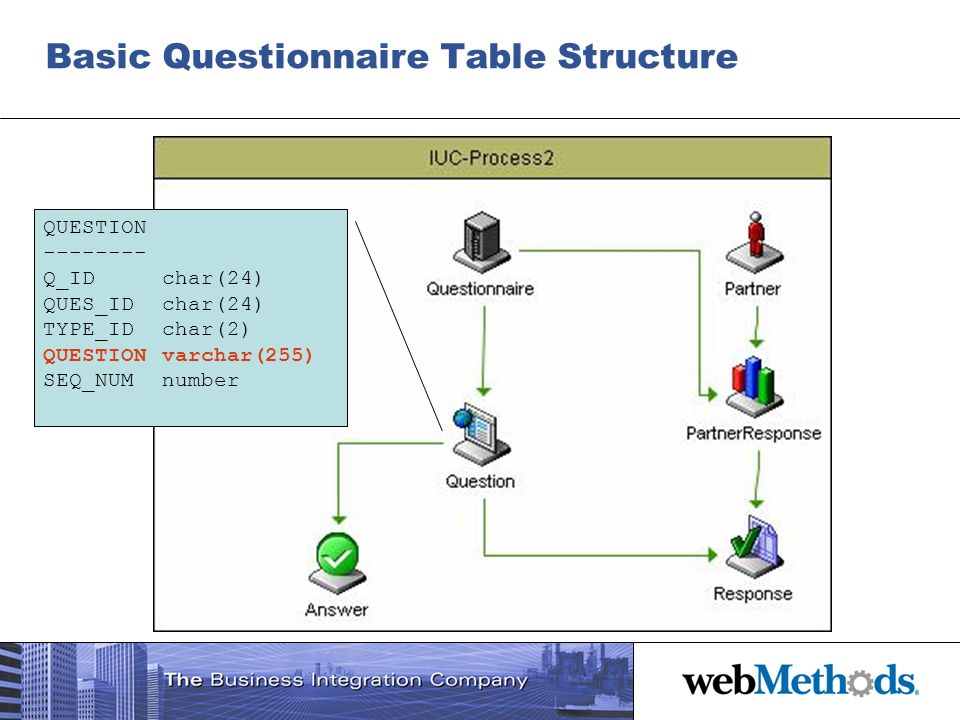 Basic Questionnaire Table Structure