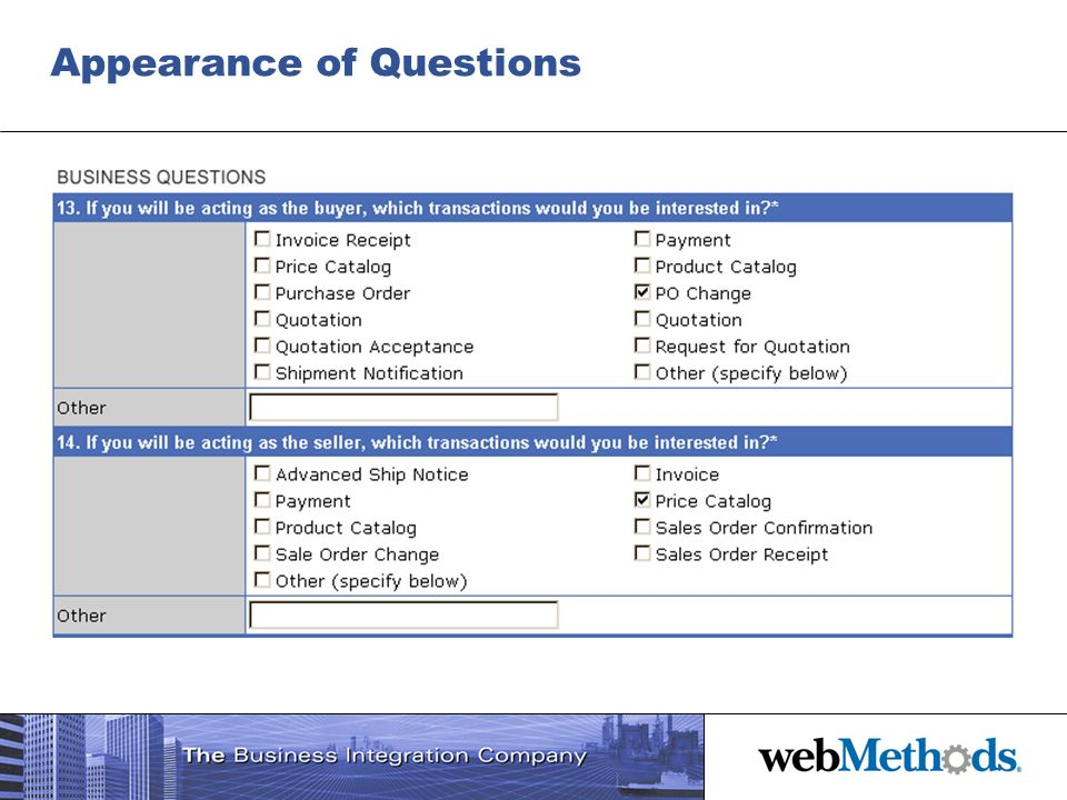 Appearance of Questions