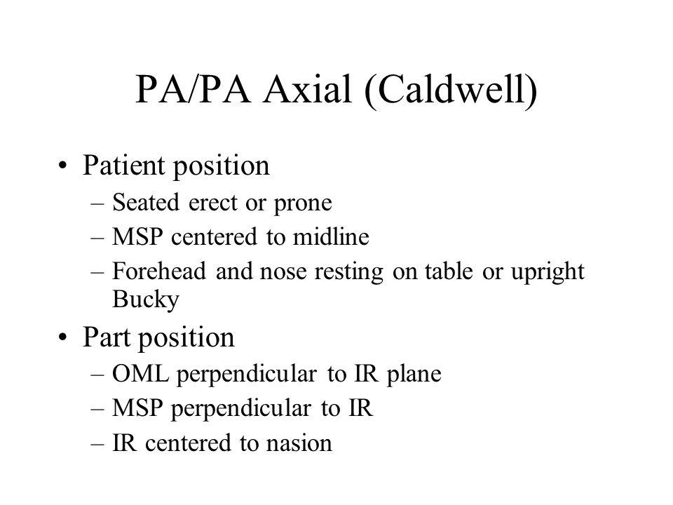PA/PA Axial (Caldwell)