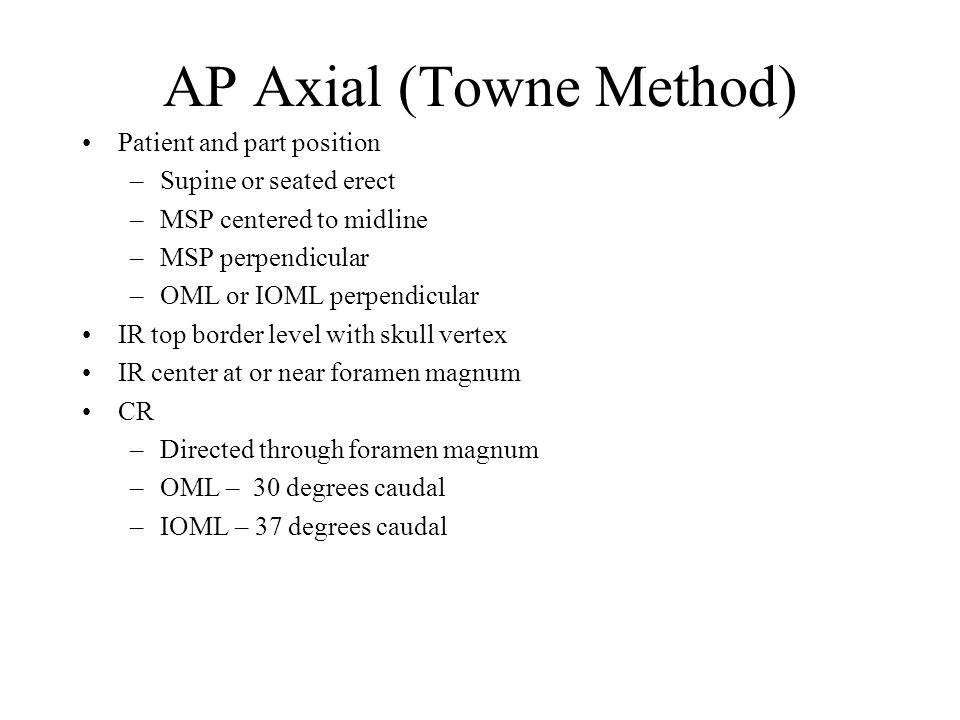 AP Axial (Towne Method)