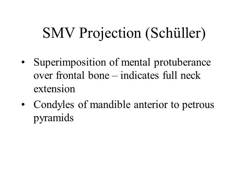 SMV Projection (Schüller)