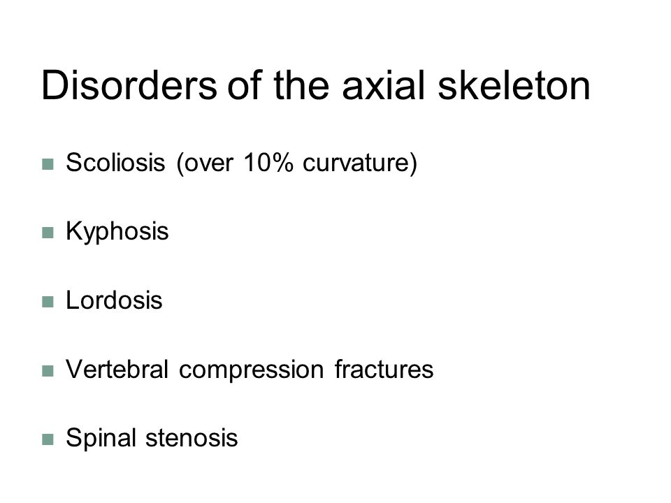 Disorders of the axial skeleton