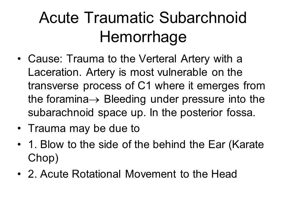 Acute Traumatic Subarchnoid Hemorrhage