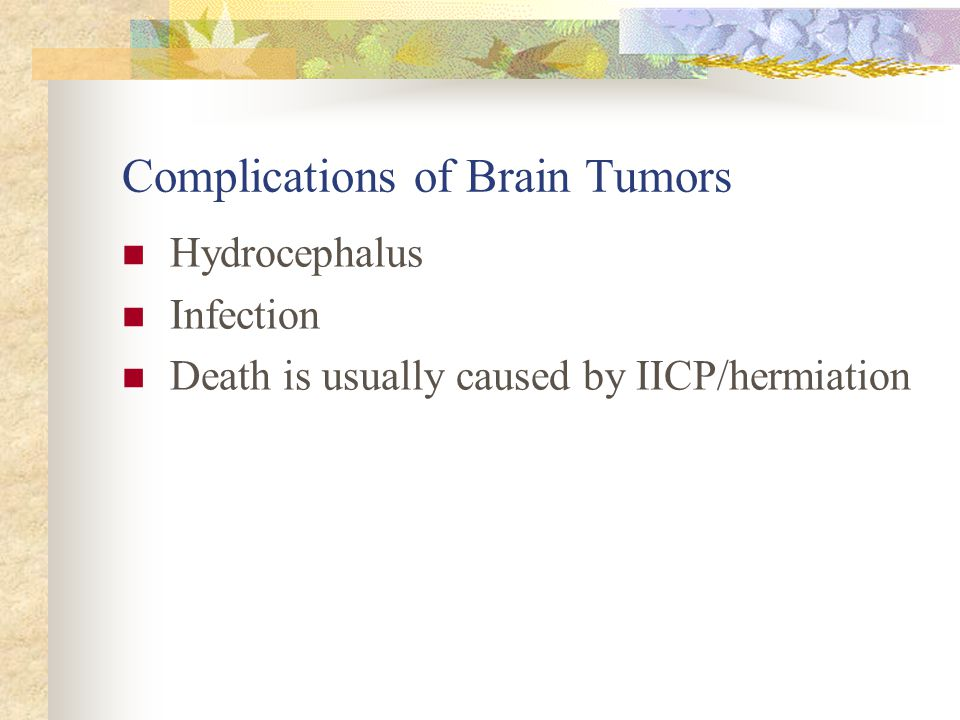 Complications of Brain Tumors