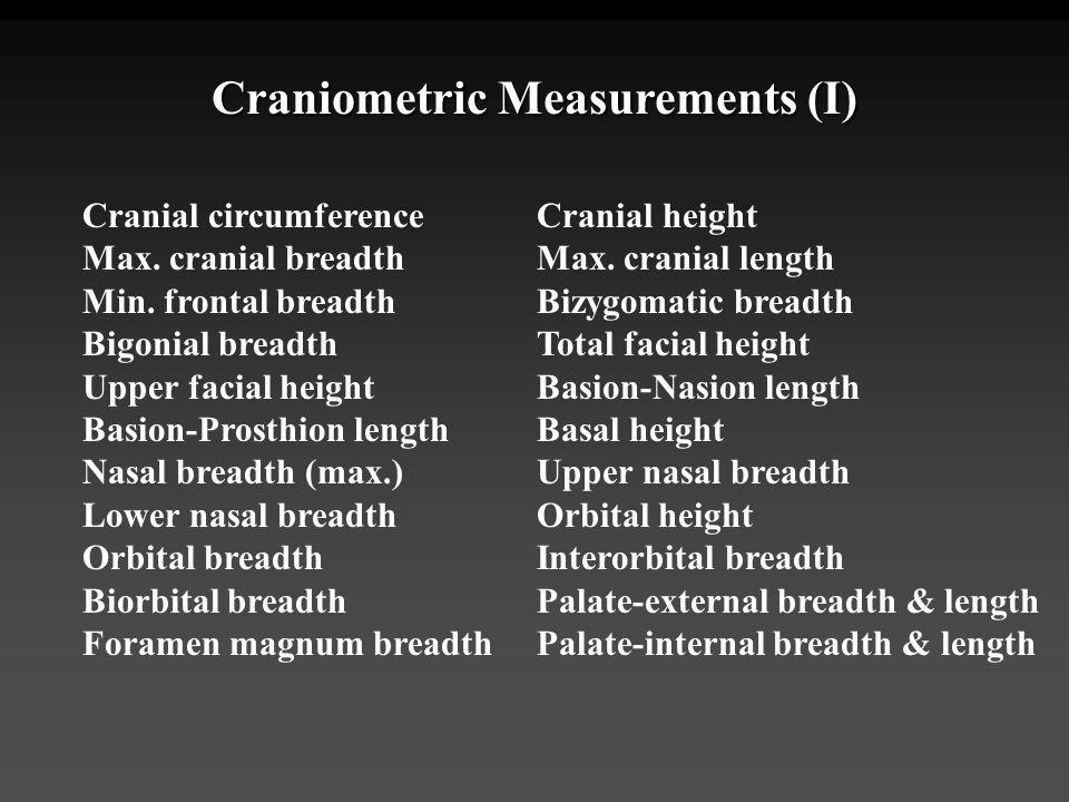 Craniometric Measurements (I)