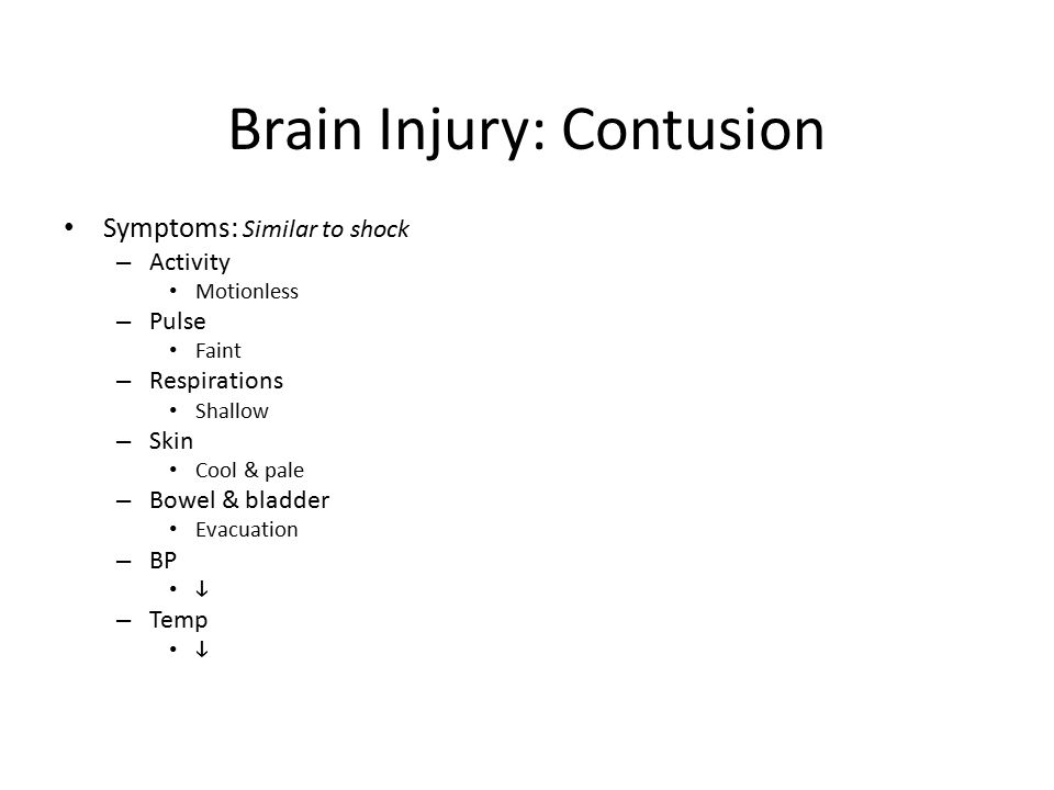 Brain Injury: Contusion