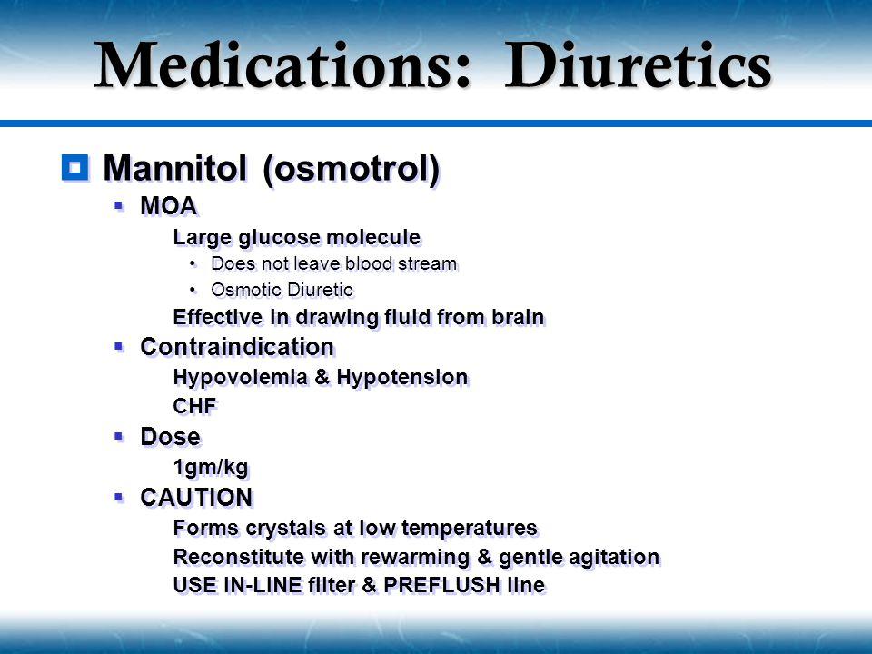 Medications: Diuretics