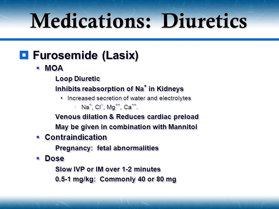 Medications: Diuretics