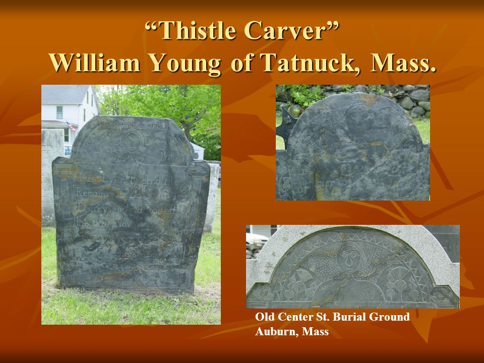 Thistle Carver William Young of Tatnuck, Mass.