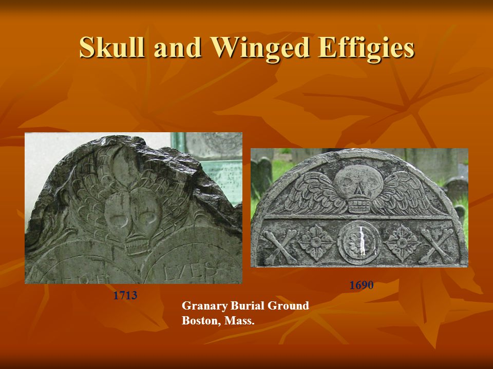 Skull and Winged Effigies