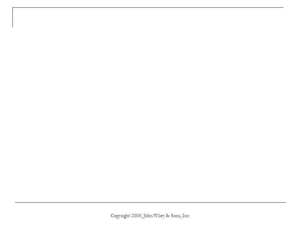 Copyright 2009, John Wiley & Sons, Inc.
