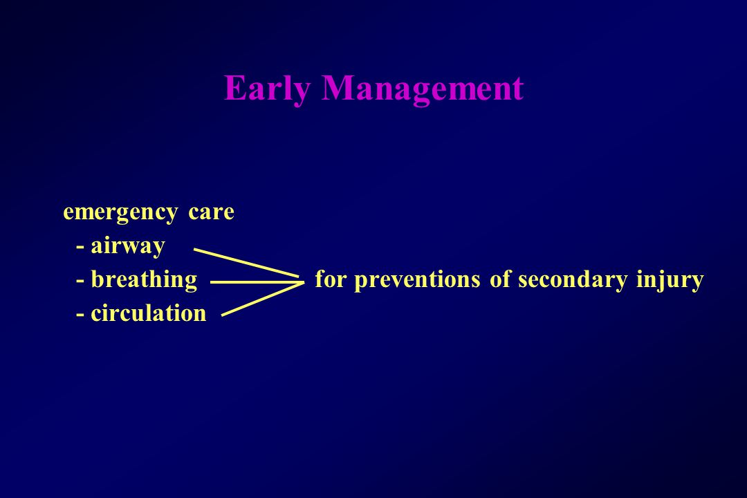 Early Management emergency care - airway