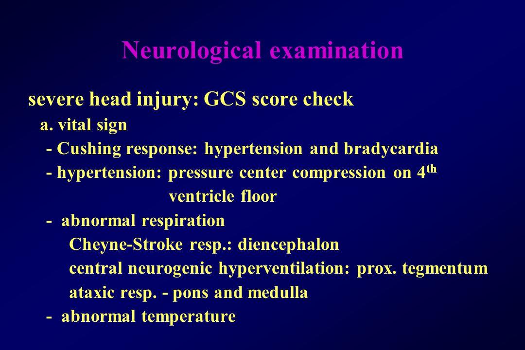 Neurological examination