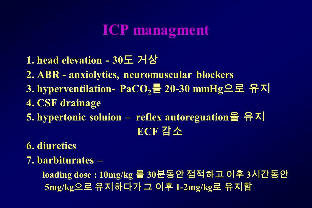 ICP managment 1. head elevation - 30도 거상