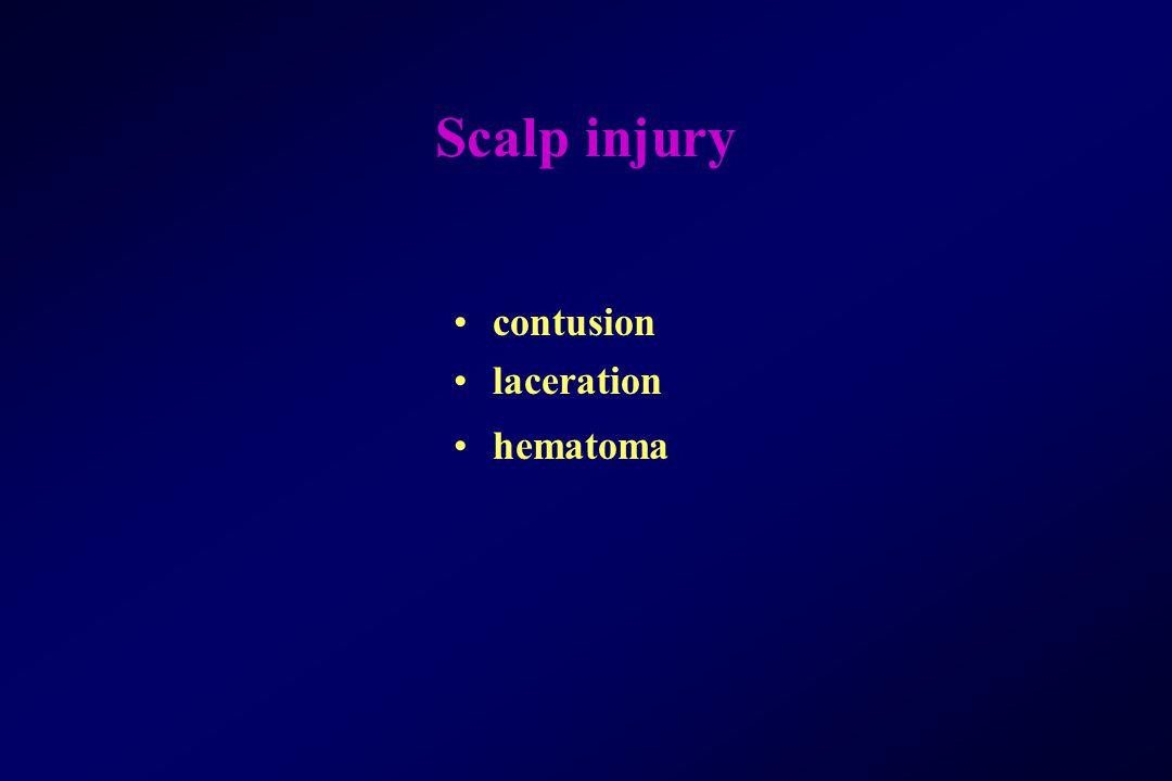 Scalp injury contusion laceration hematoma