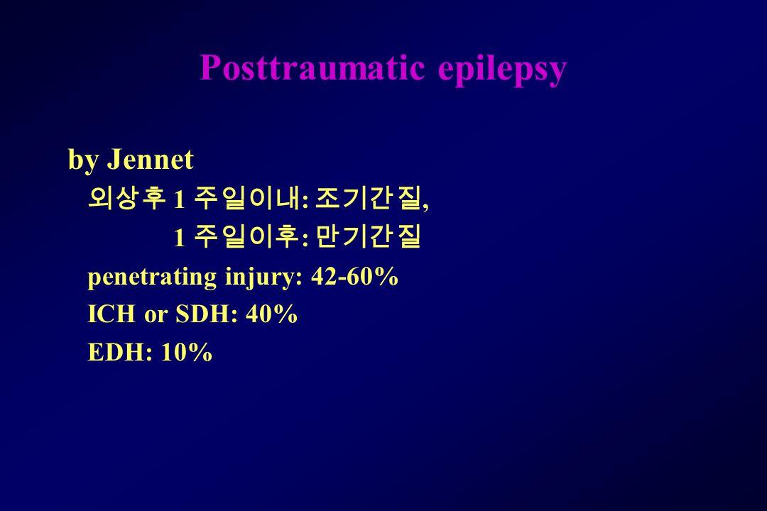 Posttraumatic epilepsy