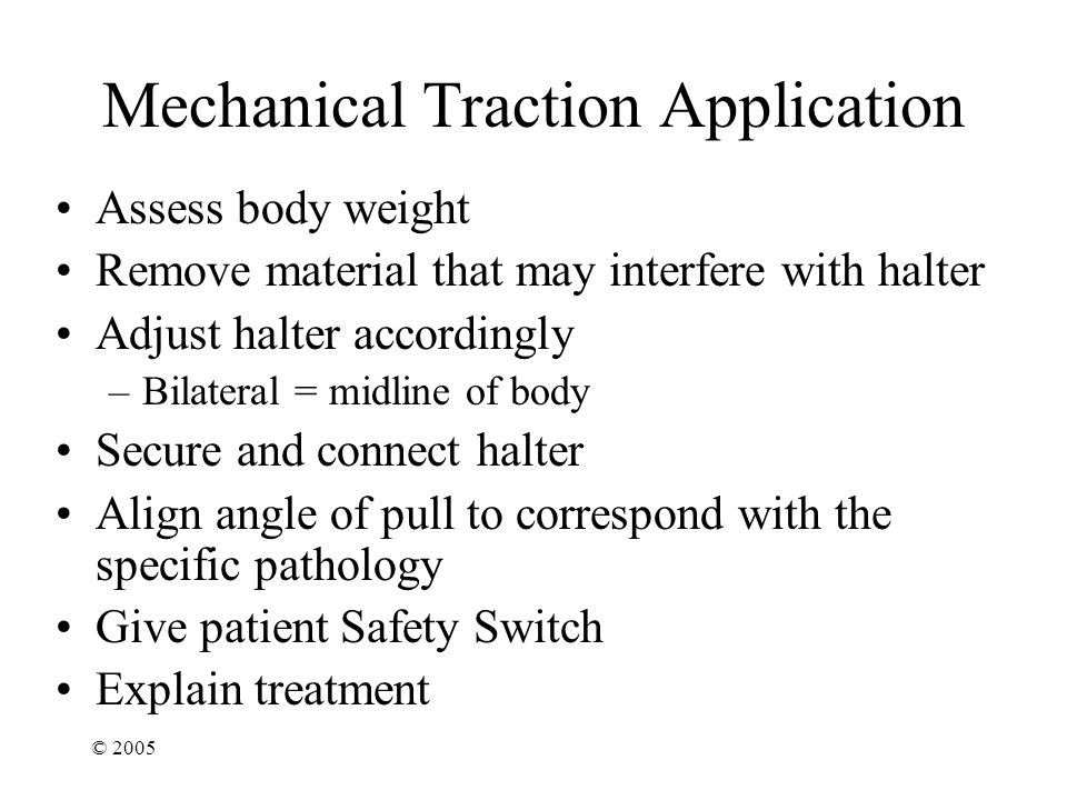 Mechanical Traction Application