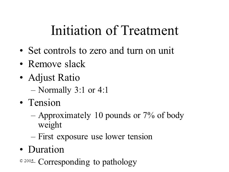 Initiation of Treatment