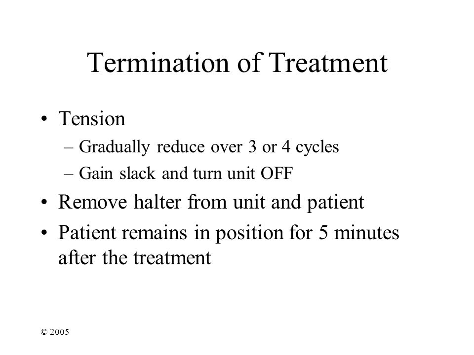 Termination of Treatment