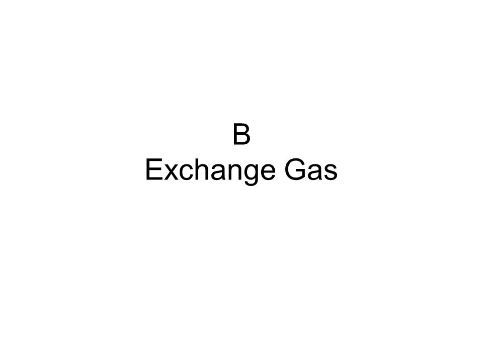 B Exchange Gas