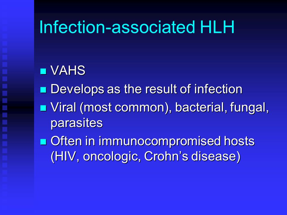 Infection-associated HLH