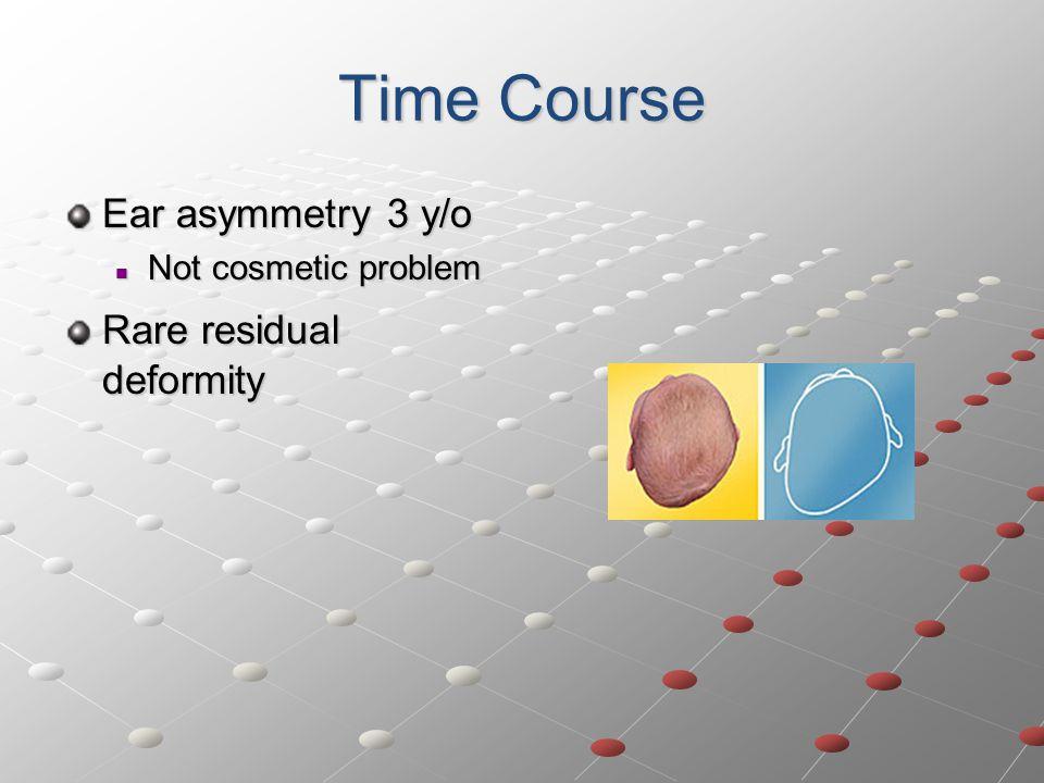 Time Course Ear asymmetry 3 y/o Rare residual deformity