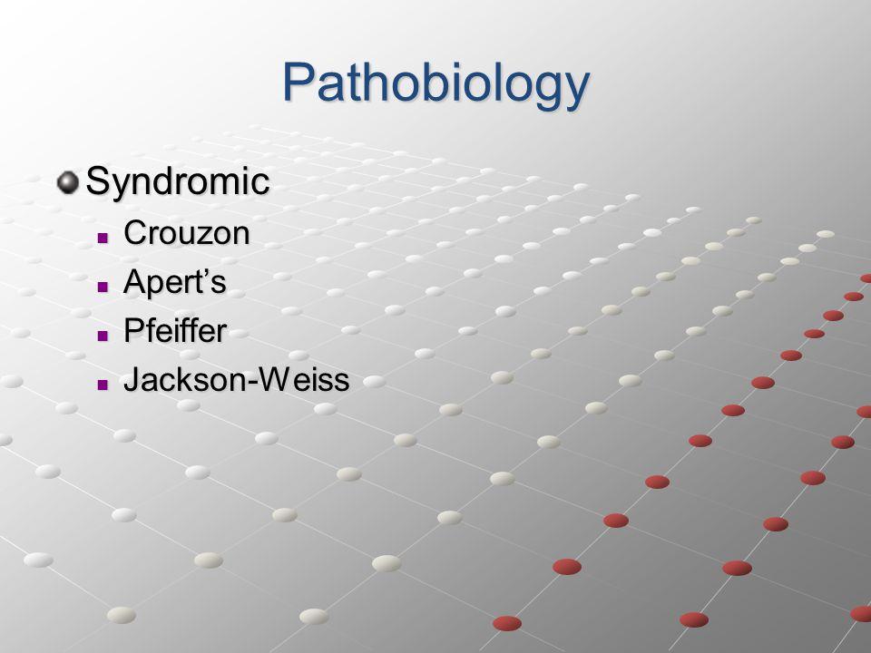 Pathobiology Syndromic Crouzon Apert's Pfeiffer Jackson-Weiss