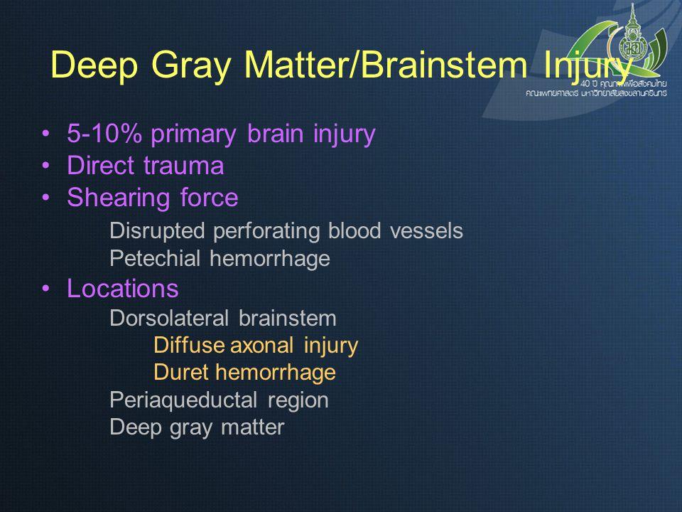 Deep Gray Matter/Brainstem Injury