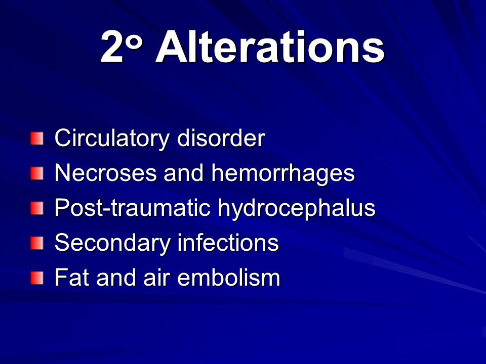 2๐ Alterations Circulatory disorder Necroses and hemorrhages