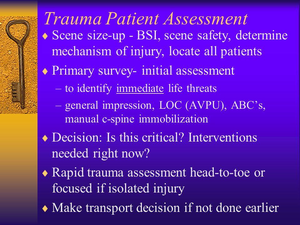Trauma Patient Assessment