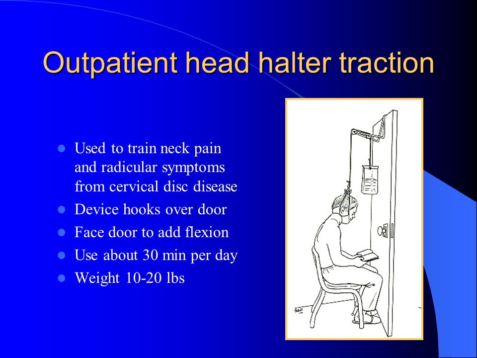 Outpatient head halter traction