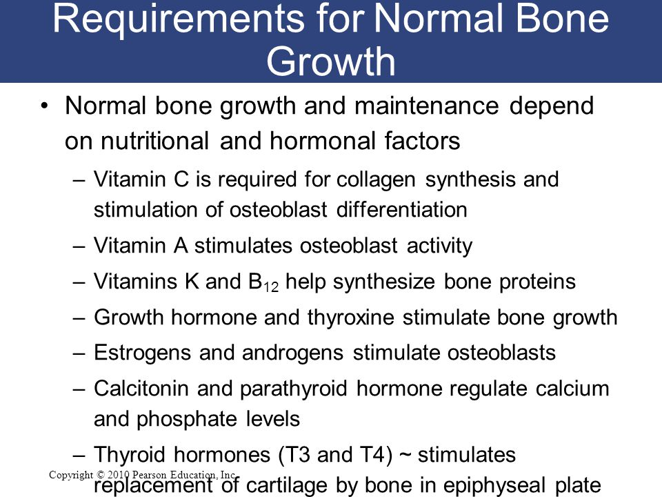Requirements for Normal Bone Growth