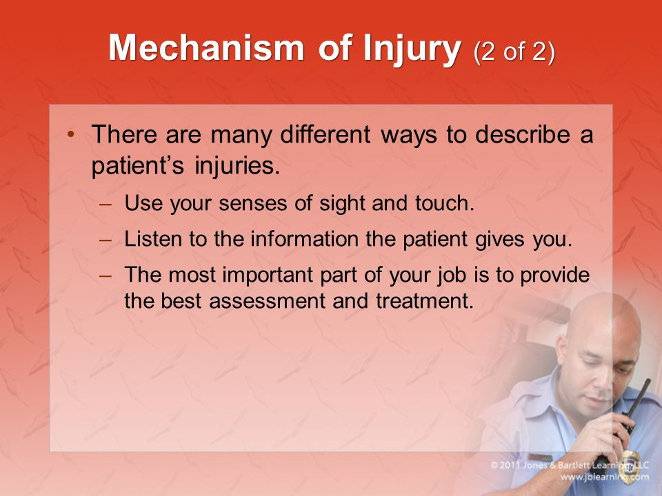 Mechanism of Injury (2 of 2)