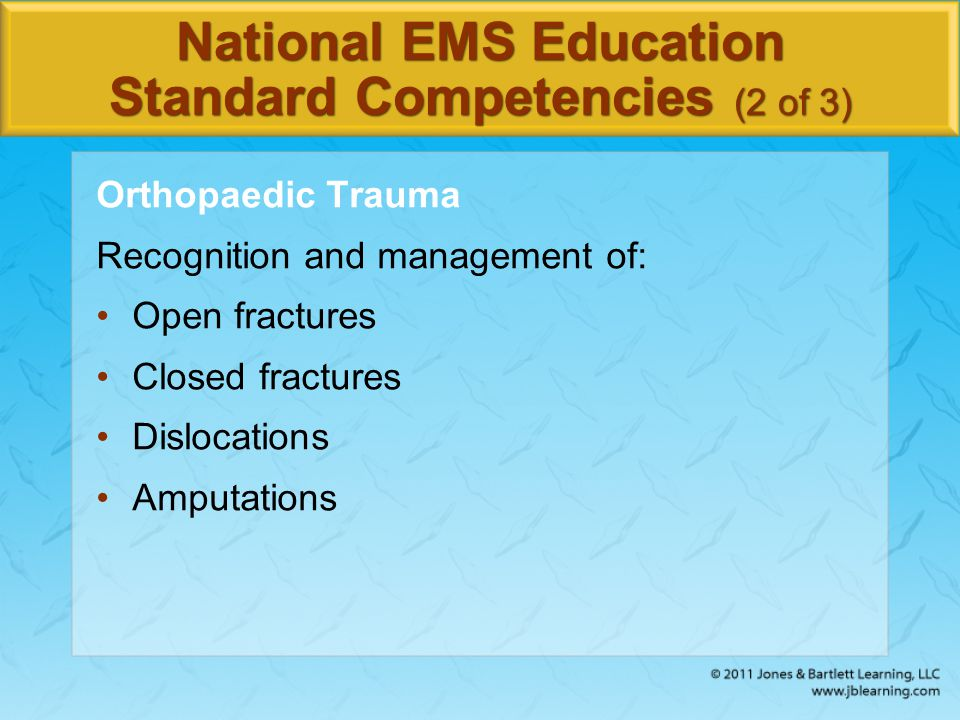 National EMS Education Standard Competencies (2 of 3)
