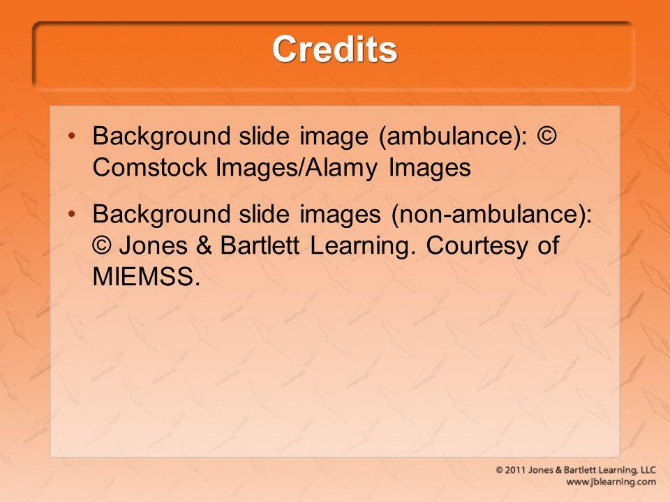 Credits Background slide image (ambulance): © Comstock Images/Alamy Images.