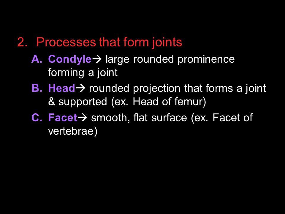 Processes that form joints