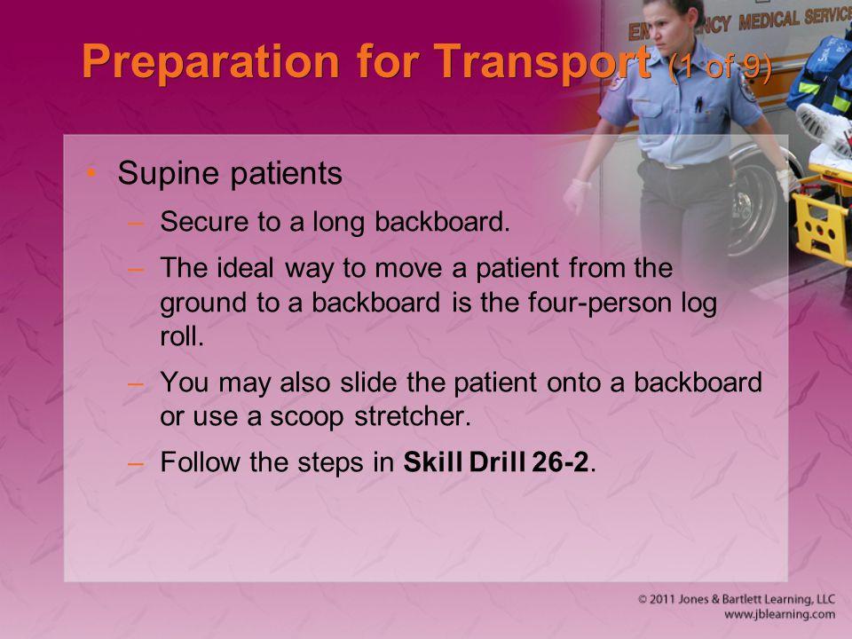 Preparation for Transport (1 of 9)